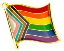 Bølgende Progress Flag-pin