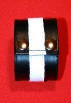 Læder bånd med farvekode (Hvid)