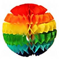 Regnbue bold i silkepapir
