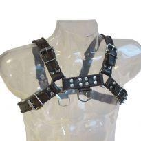 Sort Bryst Harness med sorte striber