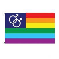 Stort Regnbue flag