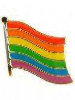 Wavy Rainbow Flag-pin