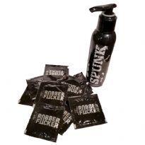Spunk Lube og Rubber Fucker kondomer