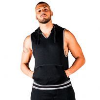 Mr B San Jose Sleeveless Hoodie Sort