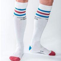 Mister B Urban sokker - Hvid - blå/rød/blå