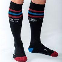 MisterB Urban sokker - Sort - rød/blå/rød