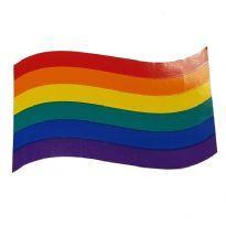 Bølget regnbue klistermærke