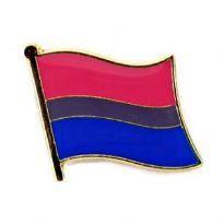 Pin, Wavy Bisexuelt Flag