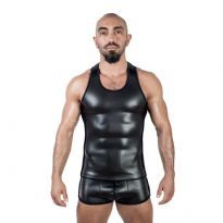 Mister B Neoprene Tank Top - Sort