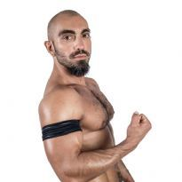 Mister B Neoprene Biceps Band - Sort/Sort