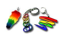Flotte vedhæng til din nøgler,regnbuevedhæng til dine nøgler