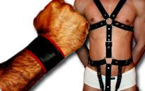 Læder tilbehør og harness til mænd, Læder til mænd til fantastiske priser, Fetish Udstyr i læder, Fetish læder til LeatherNight