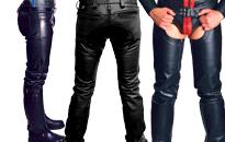 Læderbukser der passer som en drøm, Flotte kvalitets læderbukser og chaps