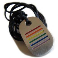 Regnbuehalskæde med striber