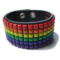 Gay Pride Læder Armbånd