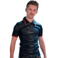 Poloshirt m/røde striber