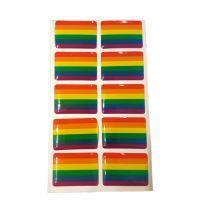 Regnbue klistermærke
