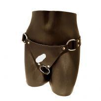 Vac-u-lock dildo harness