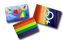 Køleskabsmagneter med et pride-tema,Køleskabsmagneter i regnbuefarver
