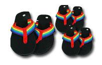 Flip flops i regnbuens farver,Bliv klar til Priden