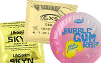 De specielle kondomer, Specielle kondomer, Slikkelapper og kondomer